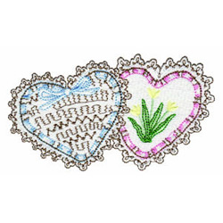 Valentines embroidery design