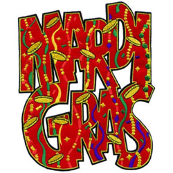 Mardi Gras Applique embroidery design