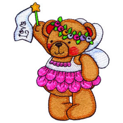 Fairy Bear Love embroidery design