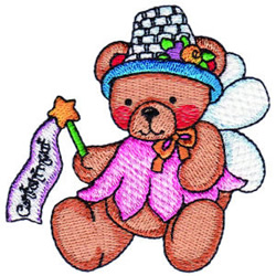 Fairy Bear embroidery design