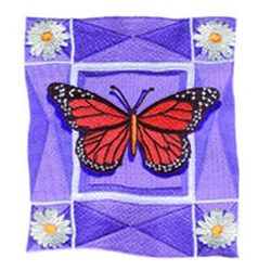 Monarch Butterfly embroidery design