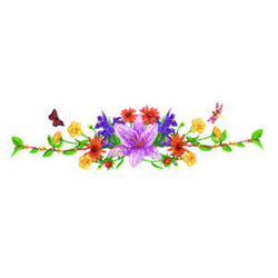 Floral Spray embroidery design