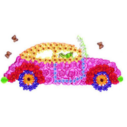 Lovebug embroidery design