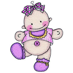 Dancing Baby embroidery design