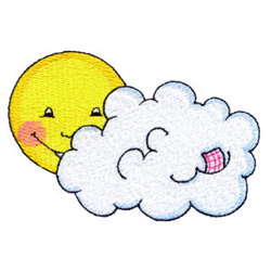 Partly Cloudy embroidery design