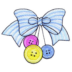 Buttons and Bows embroidery design