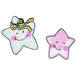 Happy Stars embroidery design