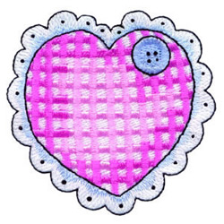 Heart Pillow embroidery design