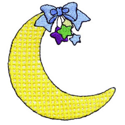 Crescent Moon embroidery design