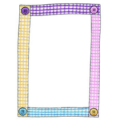 Button Frame embroidery design