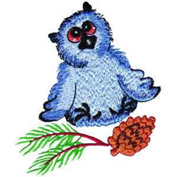 Owls Nest embroidery design