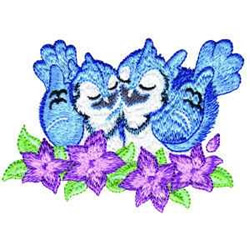 Bluebirds embroidery design