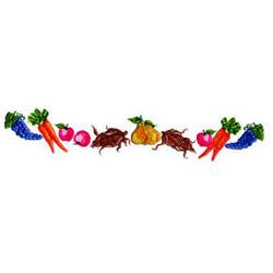 Vegetable Border embroidery design