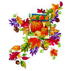 Harvest embroidery design