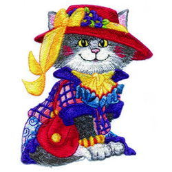 Red Hat Kitty embroidery design
