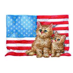 Patriotic Kitties embroidery design