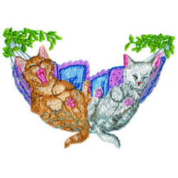 Hammock Kitties embroidery design