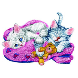 Catnap embroidery design