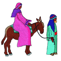 Joseph and Mary embroidery design