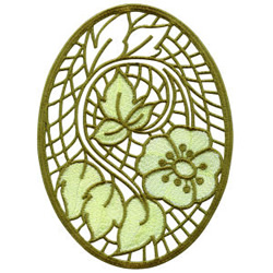Cutwork Lace Medallion 5 embroidery design