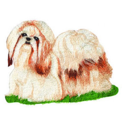 Shih Tzu embroidery design