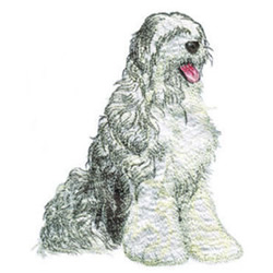 Sheep Dog embroidery design
