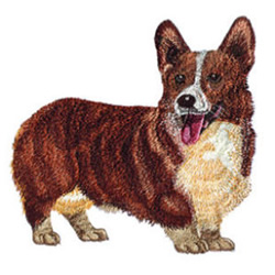 Welsh Corgi embroidery design