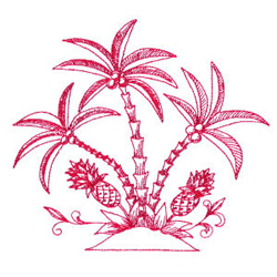Pineapples embroidery design