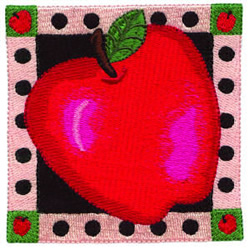 Apple Square embroidery design