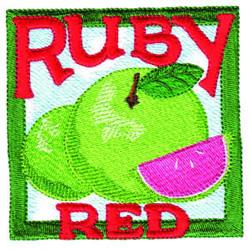 Grapefruit Square embroidery design