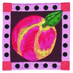 Peach Square embroidery design