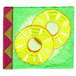 Pineapple Square embroidery design
