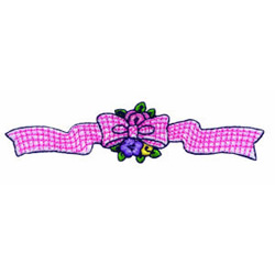 Feathered Friends Bow embroidery design