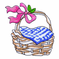 Feathered Friends Basket embroidery design