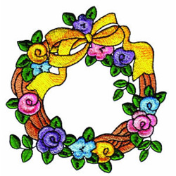 Feathered Friends Wreath embroidery design