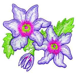 Clematis embroidery design