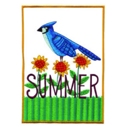Summer Bird embroidery design