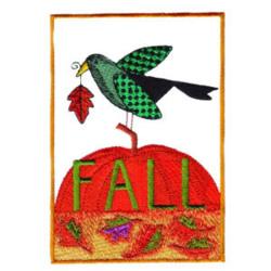 Autumn Bird embroidery design