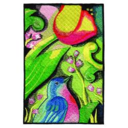 Floral Bird embroidery design