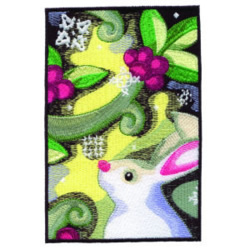Spring Rabbit embroidery design