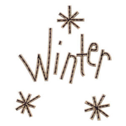 Winter Snowflakes embroidery design