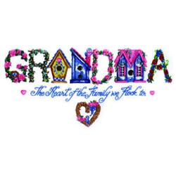 Grandma embroidery design