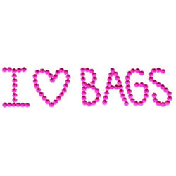I Love Bags embroidery design