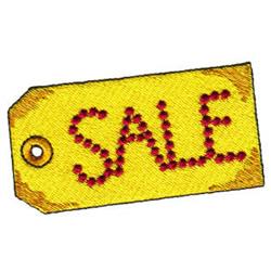 Sale Tag embroidery design