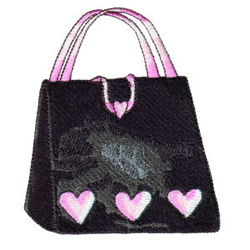 Purse embroidery design