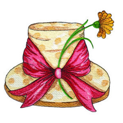 Easter Hat embroidery design