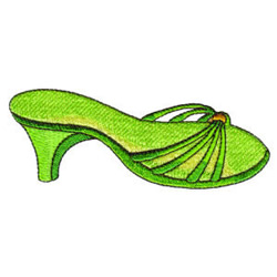 Green Sandals embroidery design
