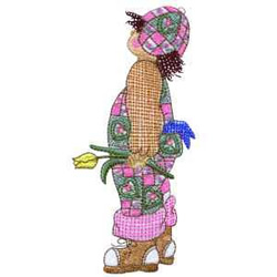 Girl With Tulip embroidery design