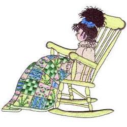 Girl In Rocker embroidery design
