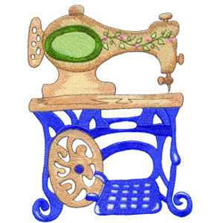 Treadle Machine embroidery design